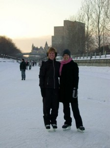 Sarah and Cindy skating on the Rideau Canal - Feb 2008 (2) (598x800)